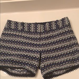 The Limited blue and black shorts